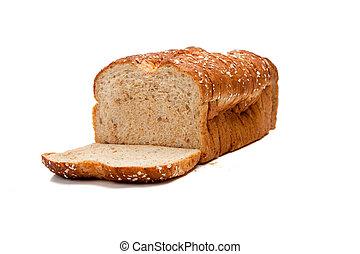 entero, barra, grano, pan blanco