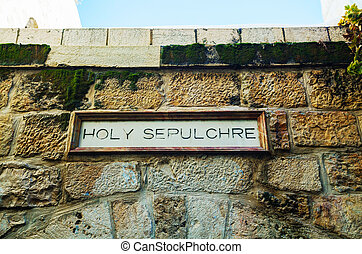 Entrada a la iglesia de Santo Sepulcro en Jerusalén