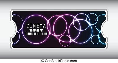 entrada película, diseño, especial, plasma
