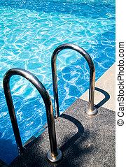 entrada, piscina, natación