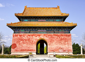 entrance., ming, tombs: