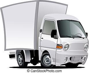 entrega, camión de carga, caricatura, /