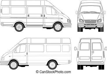Entrega / camioneta de pasajeros