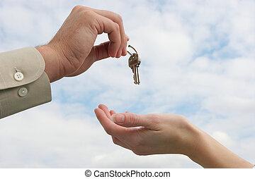 entrega, llave