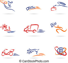 entrega, logotipos, iconos