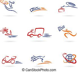 Entregar iconos y logos