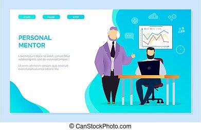 entrenador, empresa / negocio, o, mentor, estudiante, personal