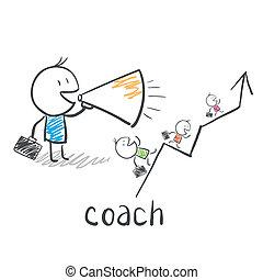 entrenador, entrenador, empresa / negocio