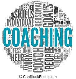 entrenamiento, concepto, etiqueta, nube