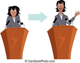 Entrenamiento de habla pública