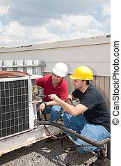Entrenamiento de trabajo, tecnología de aire acondicionado