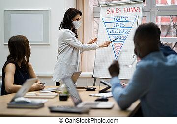 entrenamiento, equipo negocio, diverso