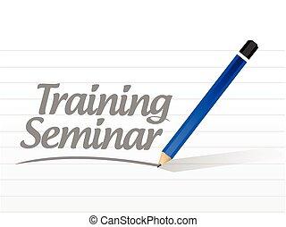 entrenamiento, mensaje, seminario
