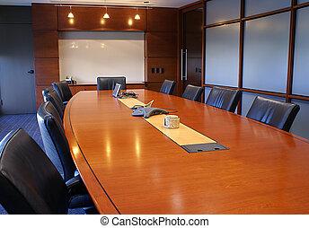 Entrenamiento o reunión corporativa.