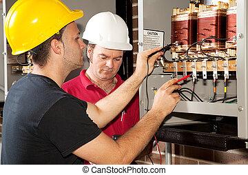 Entrenamiento profesional, electricista