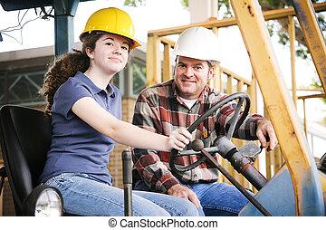 Entrenamiento vocacional en construcción