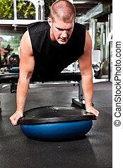 Entrenando atleta