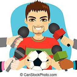 Entrevista de jugador de fútbol