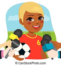 Entrevista de periodistas de futbolistas