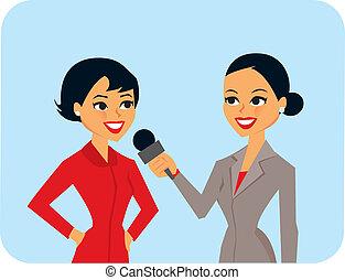 entrevistar, mujeres