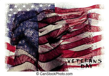 Envíale un mensaje a los veteranos de EE.UU., doble exposición