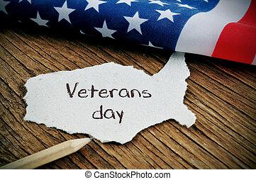 Envíale un mensaje a los veteranos y la bandera de los EE.UU