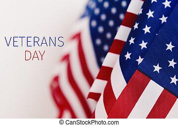 Envíale un mensaje a veteranos y banderas americanas