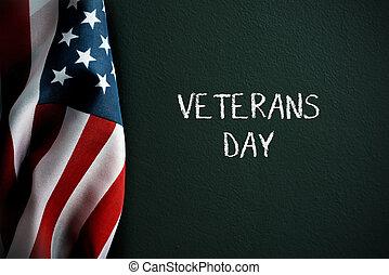 Envíale un mensaje al día de veteranos y bandera americana