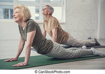 envejecimiento, flexibilidad, gente, su, revelado