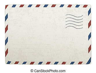 envelope., 10., vendimia, diseños, eps, vector, plantilla, envío, su
