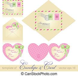 Envelope y tarjeta de felicitación