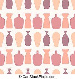 envolver, textil, papel pintado, seamless, hermoso, utilizado, patrón, resumen, lata, tela, colorido, vector, plano de fondo, ect., ser, vases.