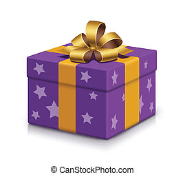 envuelto, caja, regalo