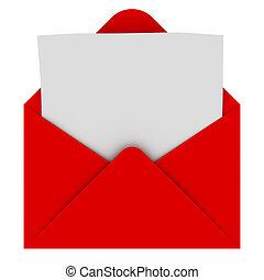 Envuelve con una carta en blanco