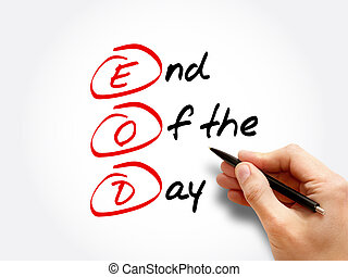 eod, día, -, siglas, fin