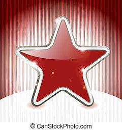 Eps 10, vector estrella de Navidad en un fondo grunge abstracto con rayas