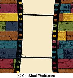 eps10, colorido, de madera, seamless, fondo., vector, tira, película