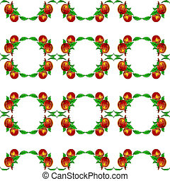 eps10, formato, apricots., seamless, melocotones, vector, plano de fondo, o
