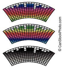 Eq, ecualizador de 3 colores con distorsión de arco