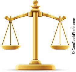 equilibrado, escala de la justicia