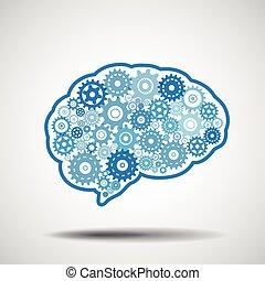 Equipo cerebral. Inteligencia artificial.