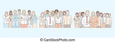 equipo, compañía, empresa / negocio, conjunto, personal, concepto