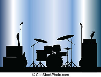Equipo de banda de rock