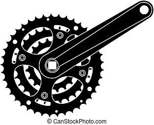 Equipo de bicicleta, rueda de metal