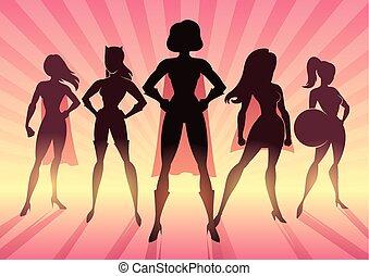 Equipo de chicas poderosas
