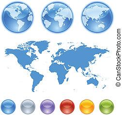 Equipo de creación de globos terrestres