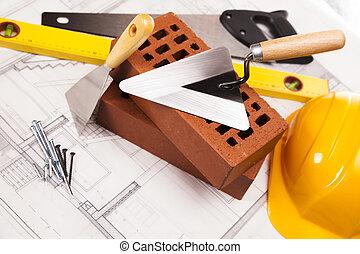 equipo de edificio, construcción