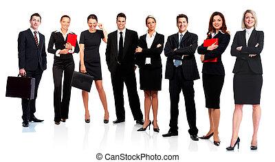 Equipo de gente de negocios.