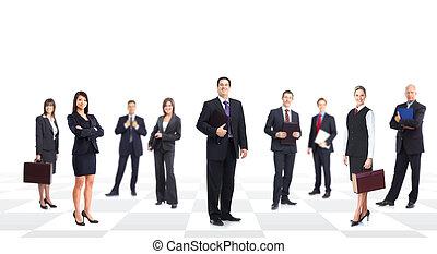 Equipo de gente de negocios