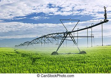 equipo de granja, irrigación, campo